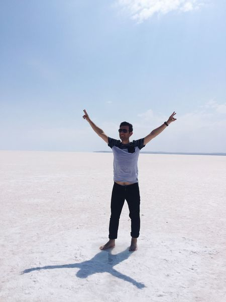 Turkey Check This Out That's Me Hello World Hi! Relaxing Taking Photos Enjoying Life Walking Around Escaping SaltLake Saltwater Konya July White Clouds And Sky Freedom