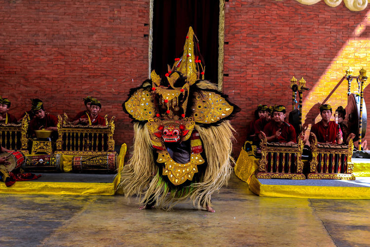 Barong Dance City Red Architecture Built Structure Venetian Mask Historic Mask - Disguise Costume Mask Animal Imitation Festival Amphitheater History Representing Carnival Disguise Eye Mask Trick Or Treat