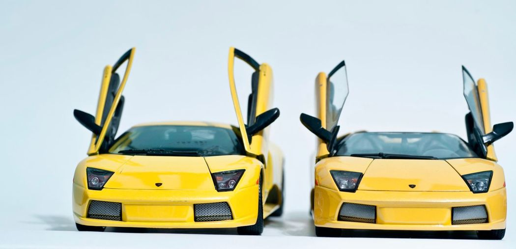 Yellow Toy White Background Car Toy Car Childhood Transportation Studio Shot No People Day Sports Race Competition Racecar Outdoors Auto Racing Close-up