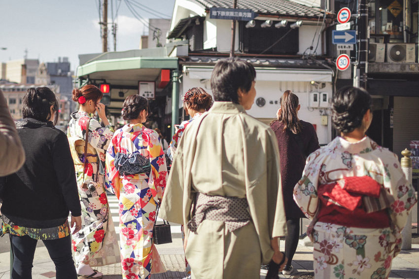 Adult Architecture Day Japan Japan Photography Japan Scenery Japanese  Japanese Culture Japanese Style Kyoto Kyoto, Japan Lifestyles Men Outdoors People Real People Rear View Street Street Fashion Street Light Street Photography Streetlights Streetphoto_color Streetphotography Women