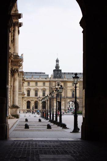 Paris Louvre Architecture Arch View