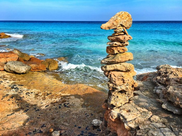 Piles Of Stones By Sea