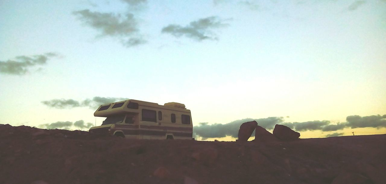 Camper Clouds Sunset Sunset_collection Sun Lightrock Panoramic Photography Campervan Rocks Sky And Clouds