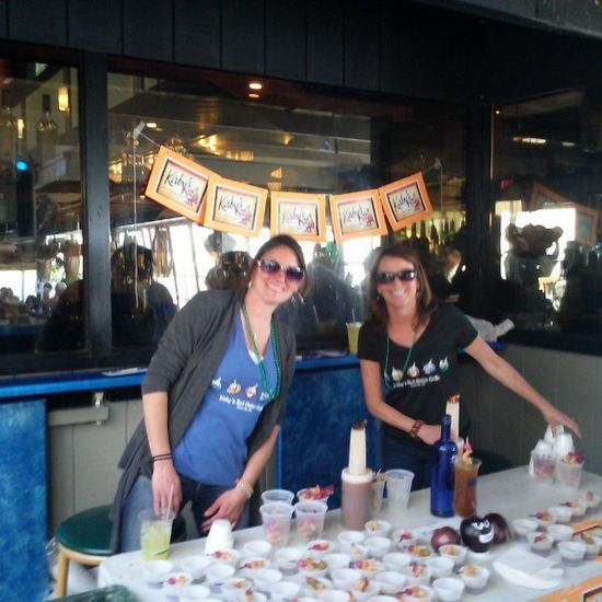 These ladies are making some serious Bloody Marys. Ocean98bloody Ocmd OceanCityCool.com