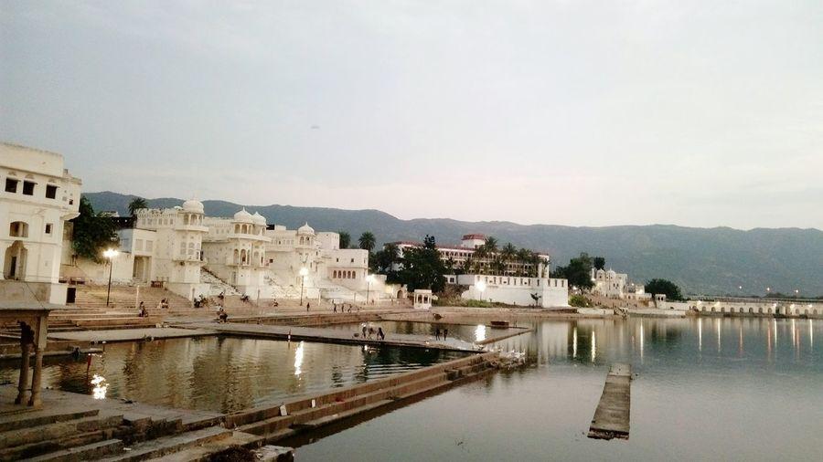 Ajmer Pushkar India Lake View Arxhitecture Lansscape SSClickPics SSClicks Mobile Photography Evening Light