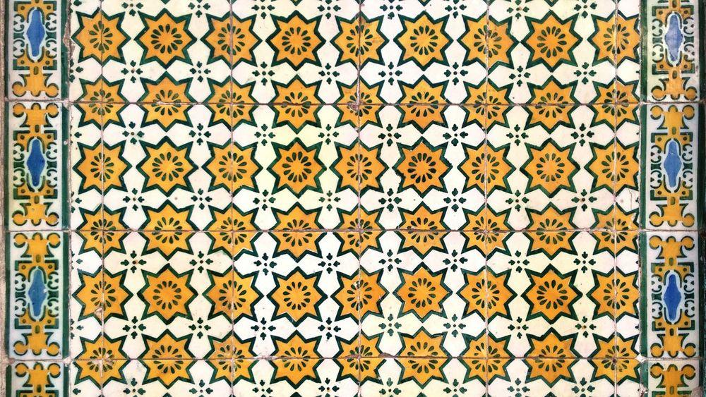 Backgrounds Pattern No People Textured  Day Lisboa, Portugal Lisbon - Portugal Portuguese Tiles  Tiles Arquitecture