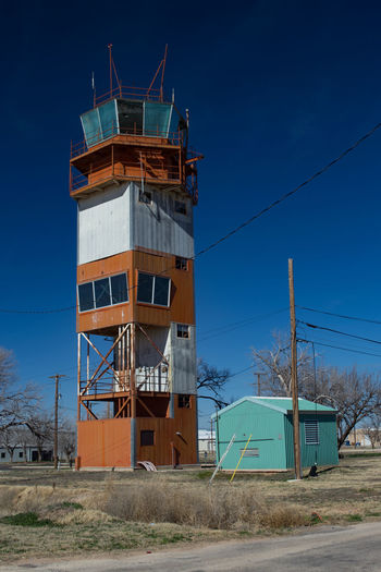 Abandoned Abandoned Buildings Abandoned Places Architecture Building Exterior Built Structure Control Tower Flying Low Angle View Military No People