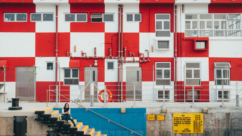 Colors Architecture Building Exterior Built Structure Outdoors Pattern People Red Colour Your Horizn