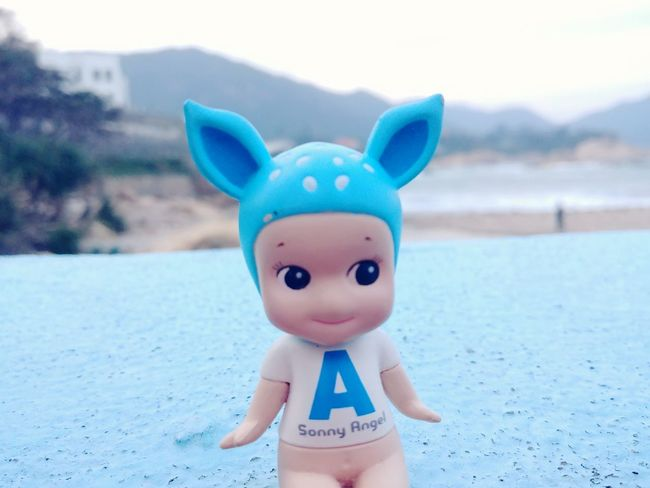 I choose not to take photos with my boyfriend at Lover Bridge because I dont think that Lover Bridge is for Couples only. JUST FOLLOW YOUR HEART NOT THE FRAMED REALITY. HongKong Sunny Monday Sea Blue Tiffany Blue  Sonny Angel Toys Toy Vintage Toys Collection Doll Decoration Shek O Doll Smiling Happiness Beach Sea Child Piggy Bank Outdoors Close-up Day