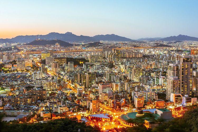 서울 우면산 도시 야경 Seoul Korea City Night Landscape Nightview Nightscape with 소니 Sony A7R and 미타콘 Mitakon 50mm 0.95