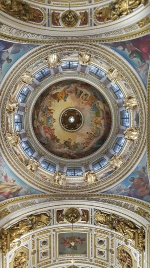Pattern Full Frame Architecture Travel Destinations Indoors  Low Angle View Savior On The Spilled Blood St. Petetrsburg Religious Art Architecture Spirituality Place Of Worship Indoors  Indoors  Indoors  Religion Art Isaakievskiy Sobor Isaac's Cathedral