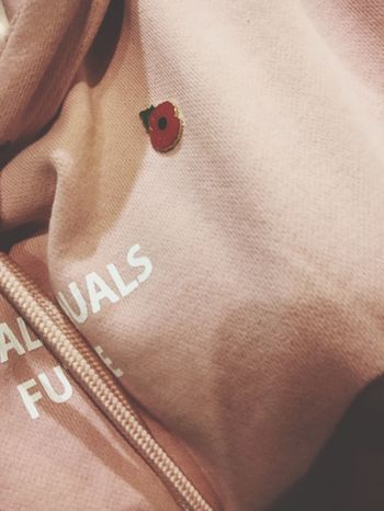 Indoors  No People Textile Close-up Day Hoodie Poppy Royalbritishlegion Help For Heroes Remeberance Day