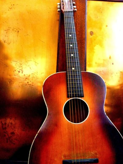Warm Colors Guitar Acoustic Guitar Silvertone Vintage Musician Music