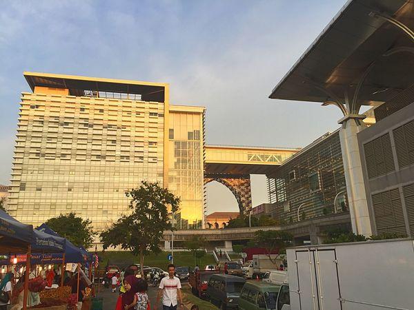 Evening view of Putrajaya near Masjidbesi Putrajaya