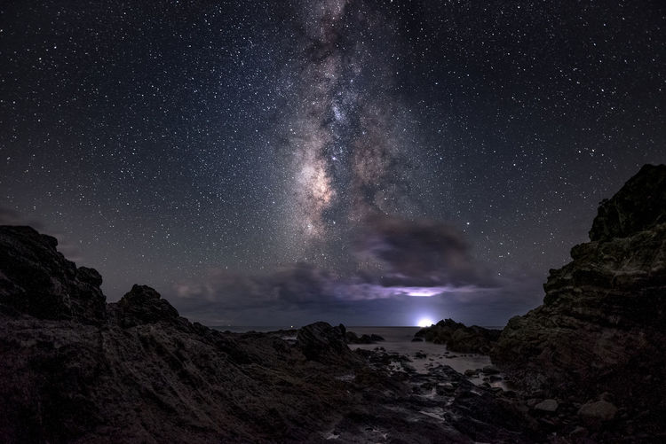amakusa japan Astronomy Beauty In Nature Galaxy Landscape Milky Way Mountain Nature Night No People Outdoors Rock - Object Scenics Sky Space Star - Space Tranquility
