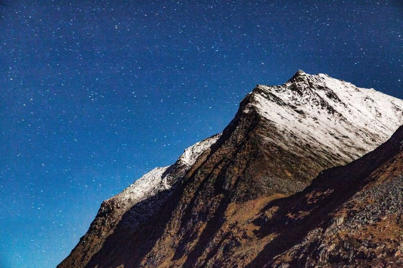 Mountain Against Star Field