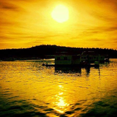 California Oroville Lake Sunset