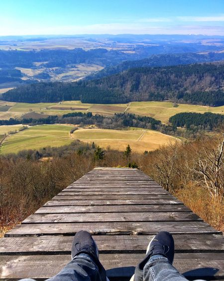 Scenics Beauty In Nature Nature Landscape Tranquility Outdoors Sky Day One Person Real People Tranquil Scene Low Section Men Human Body Part One Man Only People Shoes Hills Germany Swarzwald