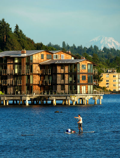Adventure Architecture Blue Water Blue Wave Boat Building Exterior Built Structure Eploring Idyllic Idyllic City Kayak Kayaking Nature Nautical Nautical Vessel Outdoors Paddleboarding Paddling Residential District Residential Structure Rippled Seascape Seattle's Best Water Waterfront