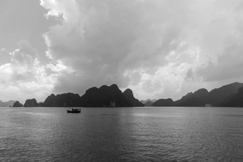 Vietnam Halong Bay Beauty In Nature Cloud - Sky Day Mountain Nature No People Outdoors Scenics Sea Sky Tranquil Scene Tranquility Water Waterfront