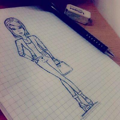 Mnogo mi je zanimljivo u skoli, da, da :| Drawing