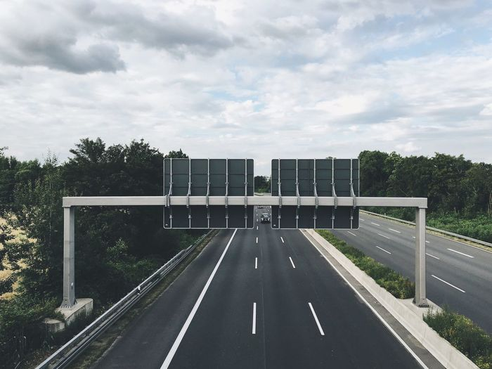 Ratingen Motorway Germany Signs Düsseldorf Evening Clouds Road Autbahn Highway Lanes Asphalt On The Way The Journey Is The Destination A Bird's Eye View The Drive Your Ticket To Europe Connected By Travel