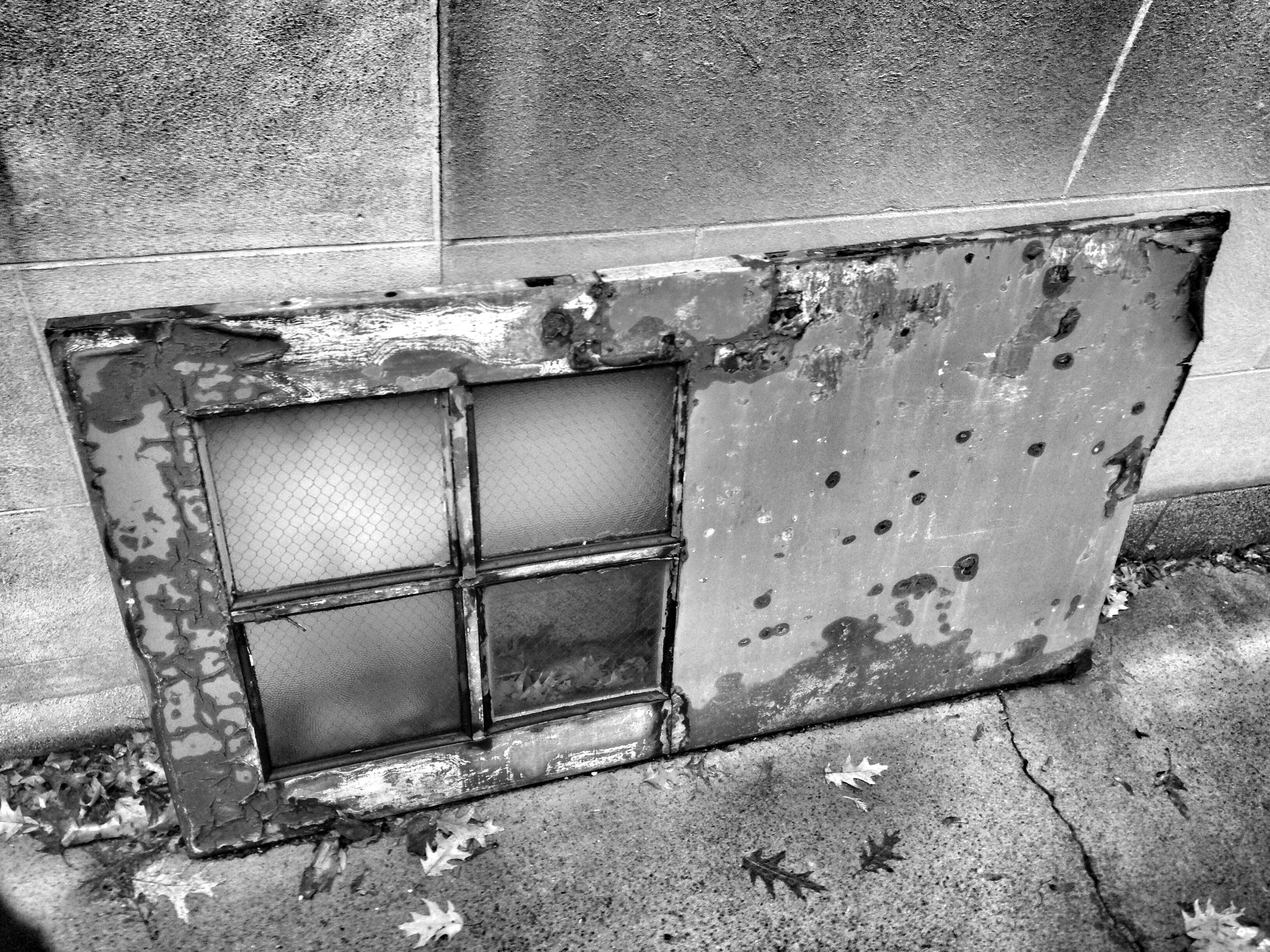 abandoned, damaged, old, obsolete, run-down, deterioration, weathered, rusty, metal, wall - building feature, built structure, bad condition, architecture, close-up, broken, indoors, peeling off, wall, window, peeled