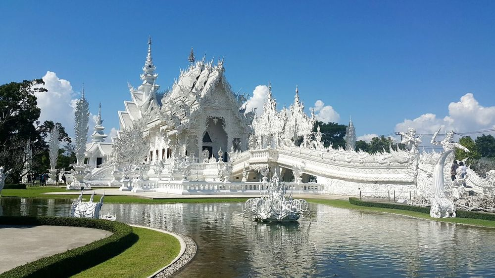 Travel Destinations Fountain Tourism No People Outdoors Architecture Vacations Sky Water Reflection Temple Structure Art And Craft Heaven Art Plasterwork Masterpiece Thailand Thailandtravel