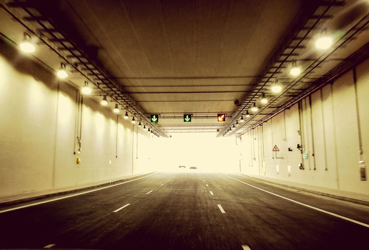 illuminated, the way forward, indoors, lighting equipment, empty, ceiling, built structure, no people, architecture, day
