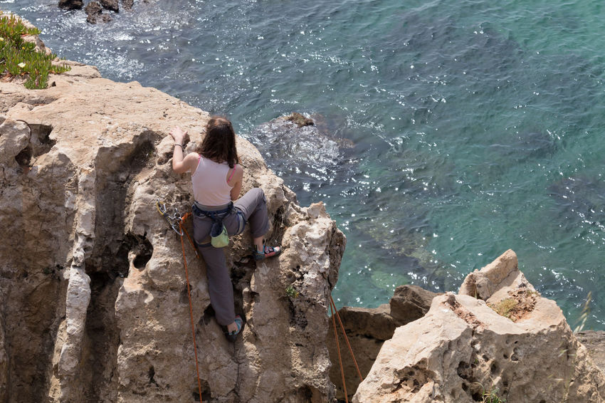 Rock Climbing Women Sport Seaside Seascape Eye4photography  EyeEm EyeEm Best Shots EyeEmBestPics Climbing Cliffside Rocks Close-up EyeEm Nature Lover Leisure Activity From My Point Of View Radical Sport People Photography People Watching EyeEm Gallery Taking Photos Portugal Long Goodbye