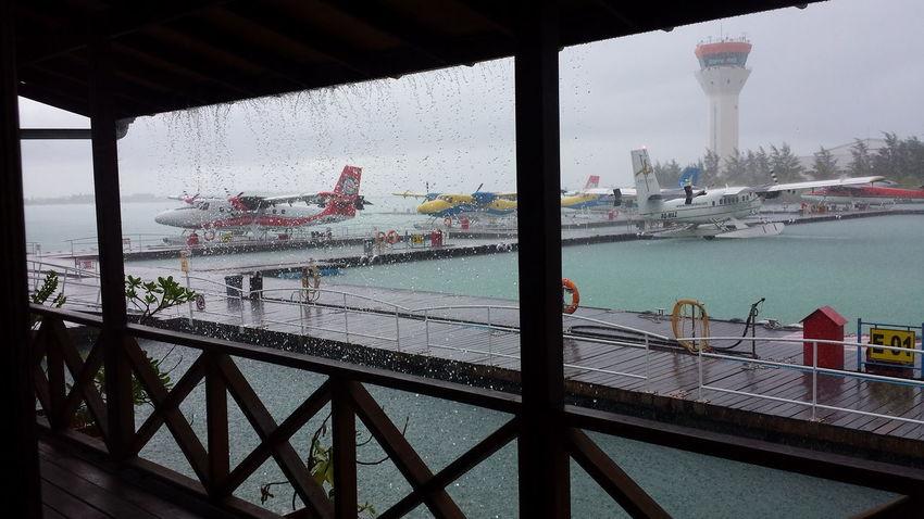 Control Tower Indian Ocean Maldives Maldives Airport S Sea Plane Carl Siddall Tropical Storm