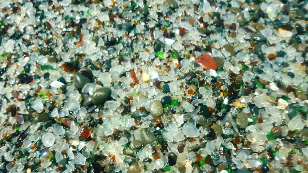 California Sea Glass Beach Fort Bragg Road Trip West Coast Pebbles Colors Smooth Stone Rocks