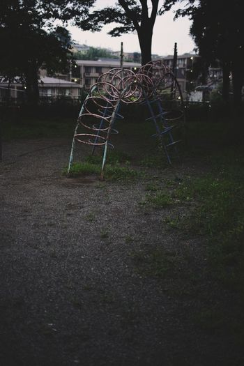 Playground Grass Park - Man Made Space Tree Outdoor Play Equipment Countryside Sunset Colorful Night Childhood Nature Fine Art Photography Growth Evening Dark Beauty In Nature Nature Ultimate Japan EyeEm Nature Lover Architecture Outdoors Darkness And Light Shadow Ladder Japan Breathing Space Investing In Quality Of Life The Week On EyeEm EyeEmNewHere