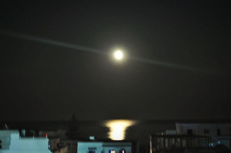 بدر قمر الهوارية Night Lights Night Summer Romance Eyeemtunisia Haouaria