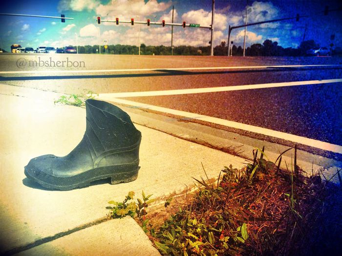 I like to contribute to a group called Lost Soles by the Highway... It highlights single shoes along roadways. Lost Lost Soles Shoes Eye4photography  Solitary Highway Roadside On The Road Missing Misplaced
