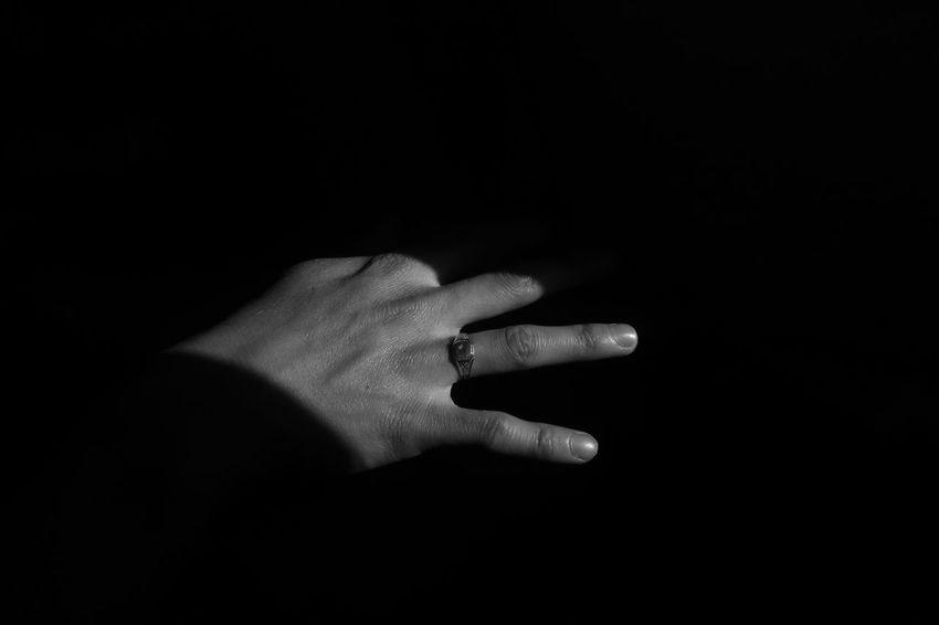Blackandwhite Raw EyeEm Best Shots Eye4photography  Shadows EyeEm Selects EyeEm Best Shots - Black + White Urban Grunge Youth This Is My Skin Fine Art Photography Fingers Malemodel  Human Hand Black Background Shadow Addiction Human Finger Close-up Ring