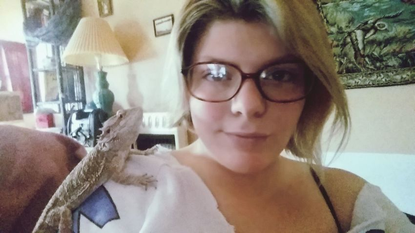 Enjoying Life Selfie ✌ Lizard Friend Simple Things In Life Strange Friends Girl Next Door That's Me Beardeddragon