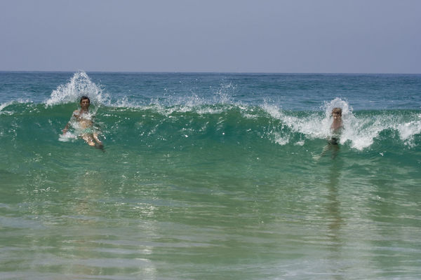 father and son in the waves - atlantic ocean, cote d'argent, france Atlantic Ocean Beach Big Wave Big Waves Boys Family Father & Son Fatherhood Moments Fun Horizon Over Water Kids Men Nature Ocean People Sea Splashing Sport Surf Swim Swimming Two People Vacations Water Wave