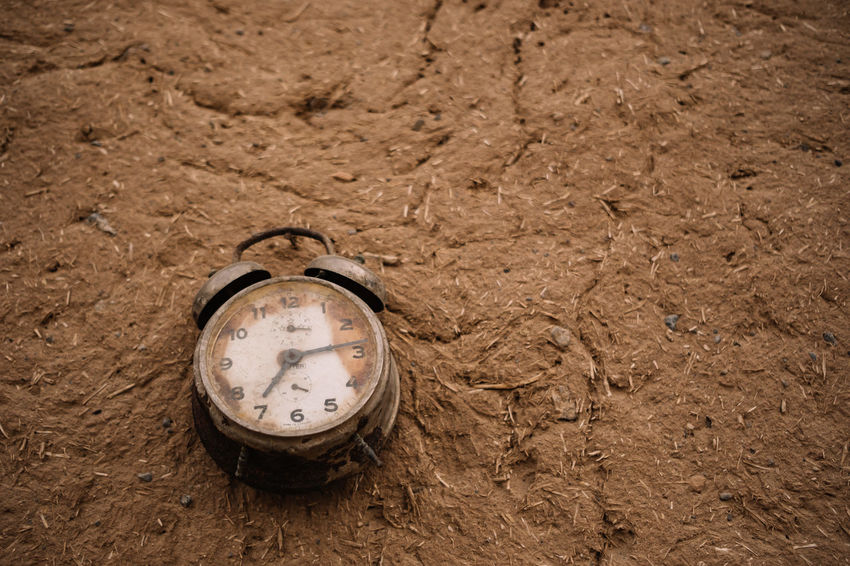 timeless Desert Silk Road Travel Photography Alarm Clock Clock Clock Face Close-up Desert Beauty Dirt High Angle View Instrument Of Time Iran Irantravel Landscape Meaning Of Time Nature Persia Sand Silkroad Time Timelessness Too Late Travel Destination