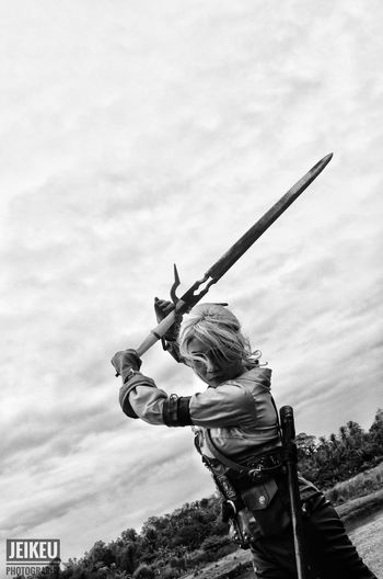 Close-up Sword Cosplayer Thewitcher3 Roleplaying Gamergirl Gamer Monochrome Photography Monochrome Monochromatic Monochrome _ Collection Girl Outdoors
