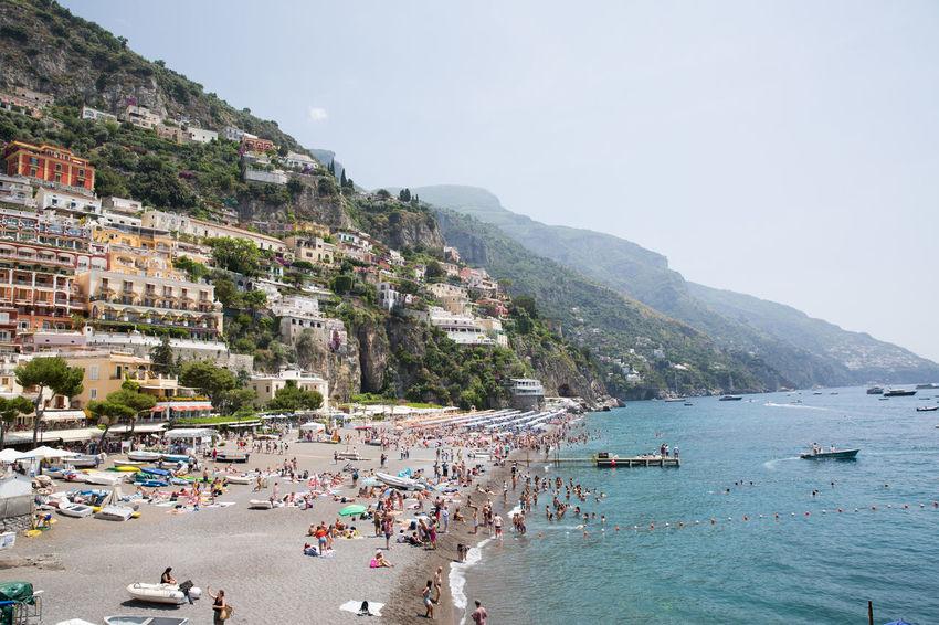 Amalfi Coast Positano, Italy Beach Beach Day Crowd Day Italy Large Group Of People Outdoors Positano Sea Sky Travel Destinations Water