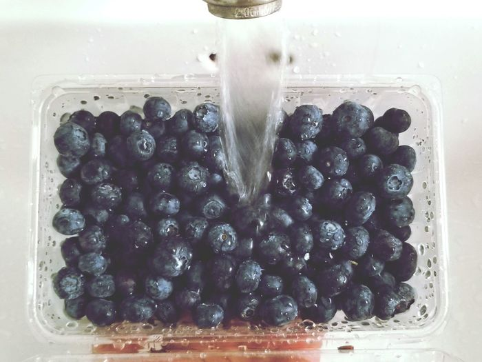 Photography Shot With Note 8 Foodie Samsung Note 8 Cleansing Refreshments Refreshing Atmosphere Life's Simple Pleasures... Blue Art Stream - Flowing Water Faucets Vintage Sink Sink Berries White Background Fruit Blueberry Close-up Sweet Food Food And Drink Berry Fruit Bathroom Sink Faucet