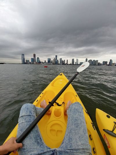 Kayaking in