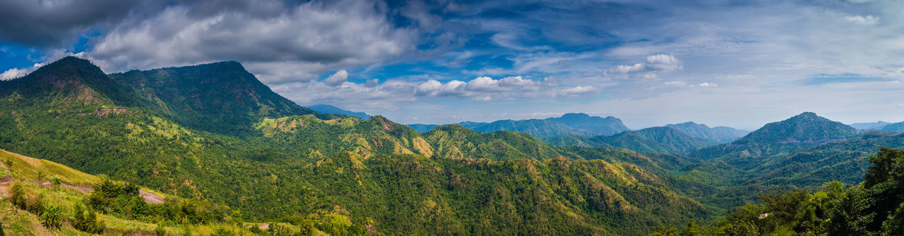 Khao Kho at Phetchabun, Thailand Scenics - Nature Mountain Landscape Sky Cloud - Sky Panoramic Beauty In Nature Environment Mountain Range Tree Nature Land Plant Forest Travel Tranquil Scene Green Color Tranquility Travel Destinations Lush Foliage No People Outdoors Mountain Peak Mountain Ridge