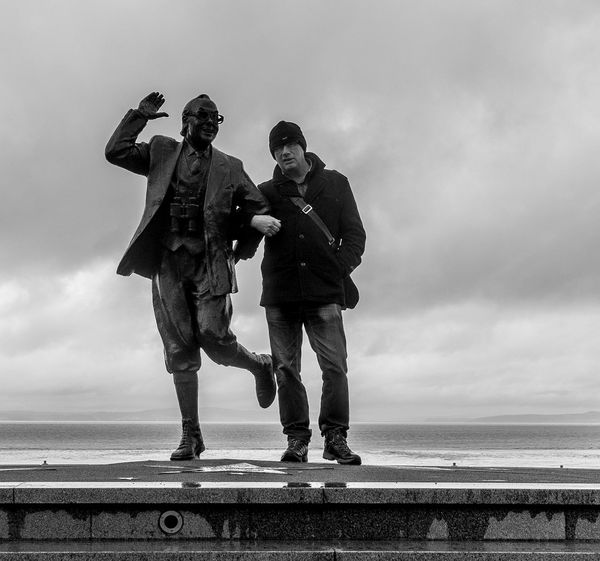 Eric and Ray, Morecambe Morecambe Black And White Relaxing Monochrome