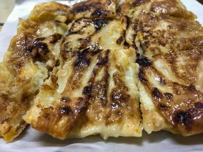 Dessert style of fried Roti with banana. Food Food And Drink Ready-to-eat Serving Size Indoors  Plate No People Close-up Freshness Day Sweet Chef The Beater Roti Mataba มะตะบะ