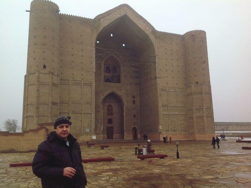 Мавзолей Ахмеда Ясави. XIVвек. Исторический памятник. Turkestan Old Arhitecture Historical Building Unesco World Heritage
