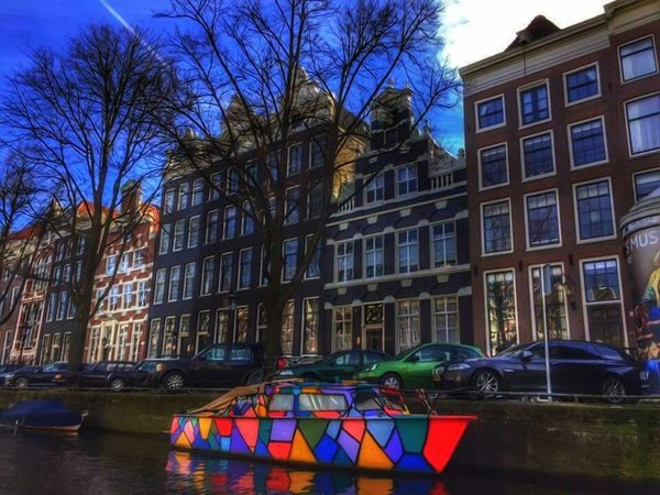 Typically Amsterdam Art Typically Architecture Outdoors Multi Colored City Amsterdam EyeEm Gallery Hello World Photography EyeEm Best Shots Popular Photos Check This Out Atmospheric Mood Reflection Edited By @minimeme.art Fantasy Edits ArtWork EyeEm Best Edits City Life Canal Houses
