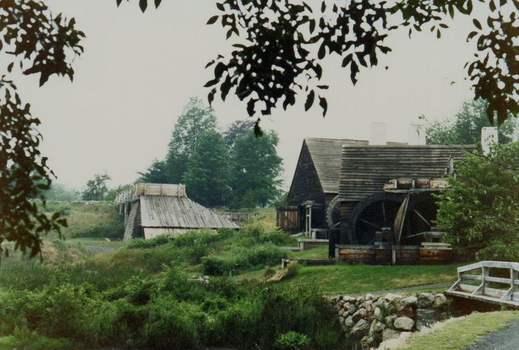 Rural Scene Historic Historical Building Grist Mill Old Watermill  Watermill New England  Building Exterior Built Structure Architecture Outdoors No People