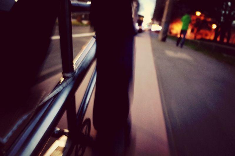 People on road